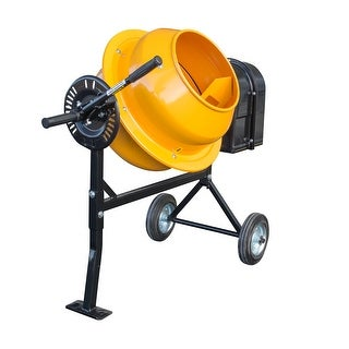 Offex 1.25 Cubic Foot Electric Cement Mixer