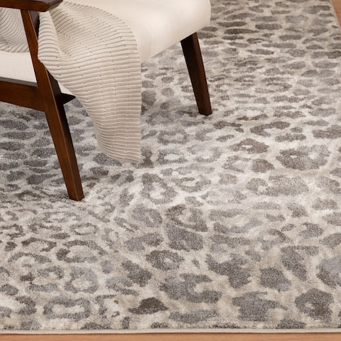 Mendez Charcoal and Ivory Woven Area Rug