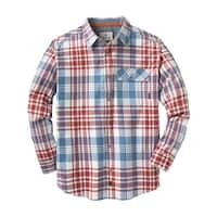 Legendary Whitetails Men's Fireside Flannel - freedom plaid