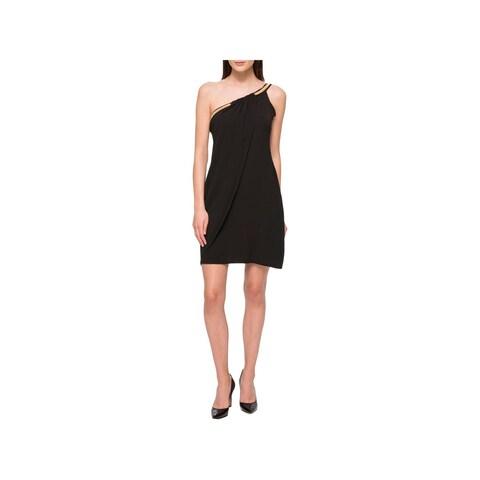 Jessica Simpson Womens Cocktail Dress Embellished One-Shoulder