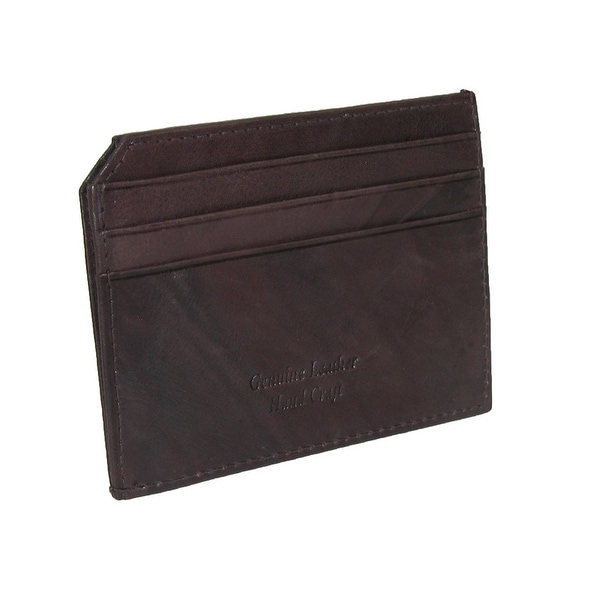 Paul & Taylor Men's Leather Slim ID Credit Card Wallet - One size