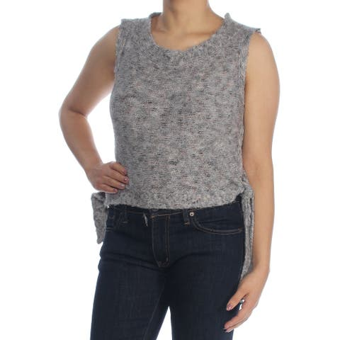 MAX STUDIO Womens Gray Speckle Sleeveless Scoop Neck Sweater Size S