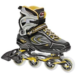 Roller Derby AERIO Q-80 Men's Inline Skates - I258 - Grey/Yellow