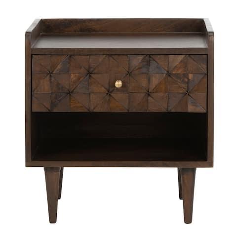 SAFAVIEH Zinnia 1-Drawer 1-Shelf Accent Table Nightstand