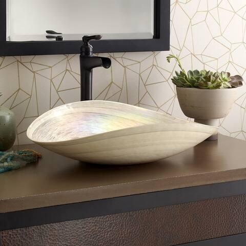 Sorrento Handmade Murano Glass Bathroom Sink - 20x17x5.25