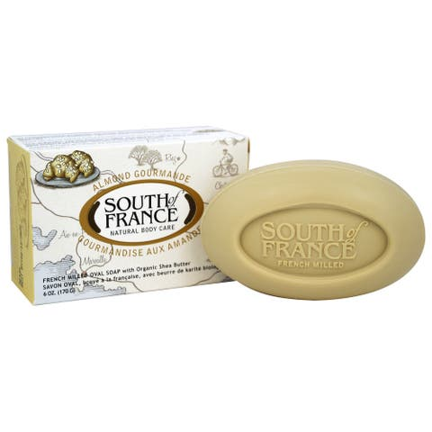 South of France - French Milled Vegetable Bar Soap Almond Gourmande - - 6 oz.