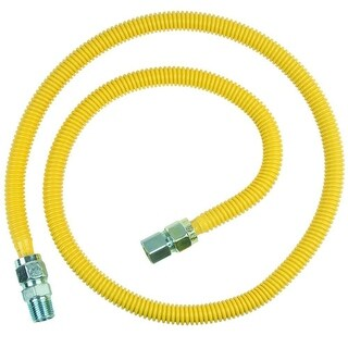 BrassCraft CSSC54-48-P ProCoat Stainless Steel Gas Appliance Connector, 48''
