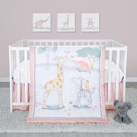 Sweet Safari 4 Piece Crib Bedding Set