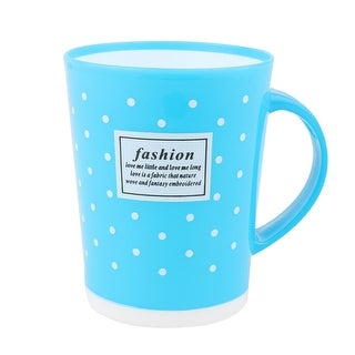 Family Bathroom Polka Dot Pattern Cylinder Shaped Toothbrush Washing Cup Blue