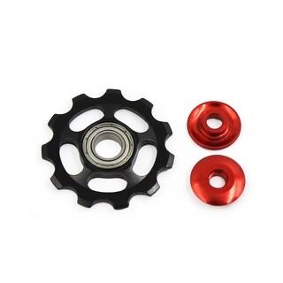 11T Aluminum Alloy Rear Wheel Derailleur Pulley Bearing Black Red for Bike