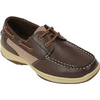 Deer Stags Boys' Jay Boat Shoe Dark Brown