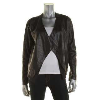 Lysse Womens Velveteen Pleather Jacket - M