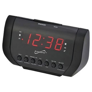 Link to Supersonic Dual Alarm Clock Radio with USB Charging Port Similar Items in Radios & Clock Radios