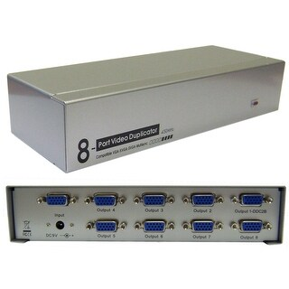 Offex VGA Video Splitter, 1 PC to 8 Monitors, 450MHZ