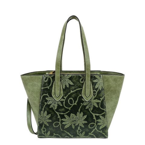 Mellow World Marissa Tote with Embossed Floral Print