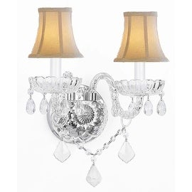 Swarovski Crystal Trimmed Chandelier Lighting Murano Venetian Style Crystal Wall Sconce