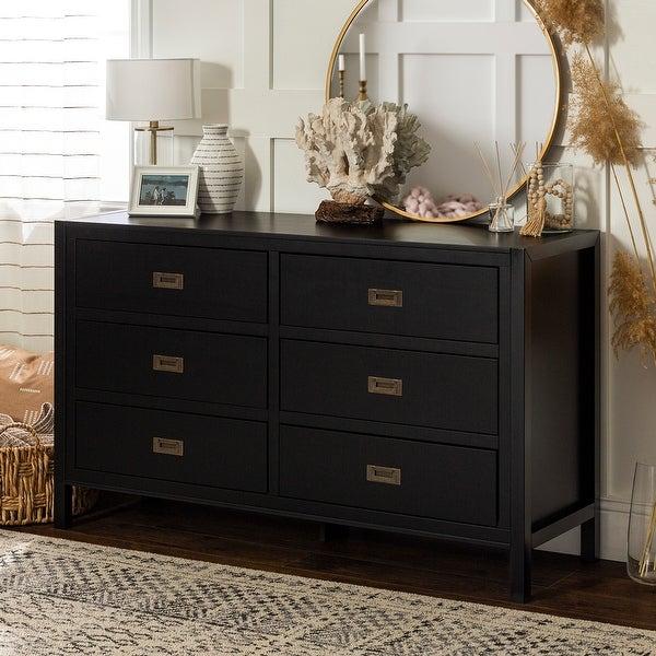 Carson Carrington Modern 6-drawer Solid Pine Dresser. Opens flyout.