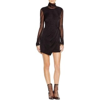 Free People Womens Party Dress Metallic Pleated