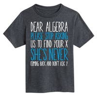 Dear Algebra Please Stop Asking  - Youth Short Sleeve Tee