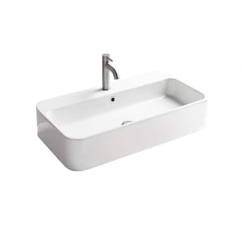 "WS Bath Collections Cosa 80.01 - 86300 Cosa 31-1/2"" Rectangular - Gloss White"