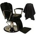 LCL Beauty Classic Style Hydraulic Lift Reclining Salon Chair - Thumbnail 0