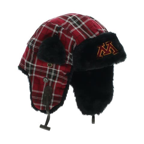 Top of the World Mens Minnesota Plaid Trapper Hat, red, One Size - One Size