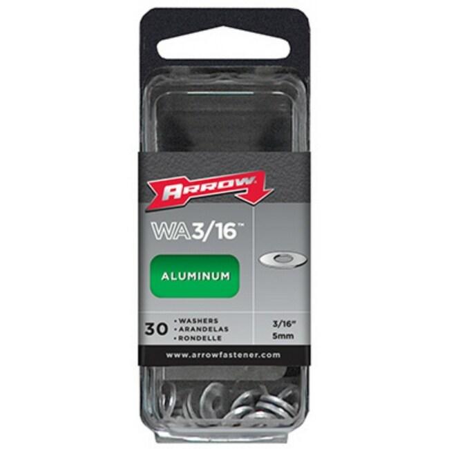 Arrow Fastener WA3/16 Aluminum Washers, 3/16, Durable Construction, 30-Count