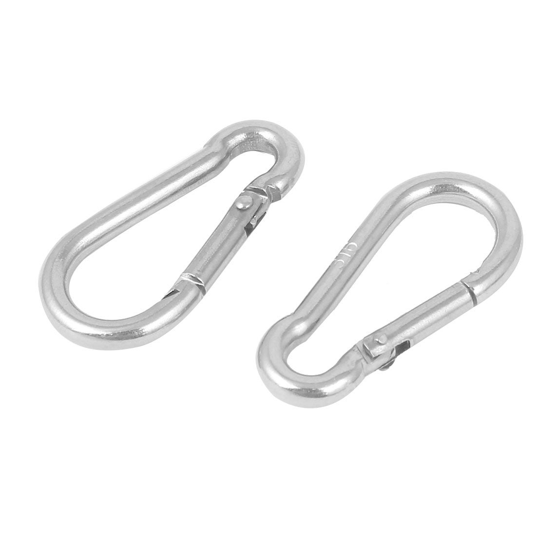 Shop 304 Stainless Steel Spring Snap Hook Carabiner Silver Tone 2pcs Silver Tone Overstock 18468782