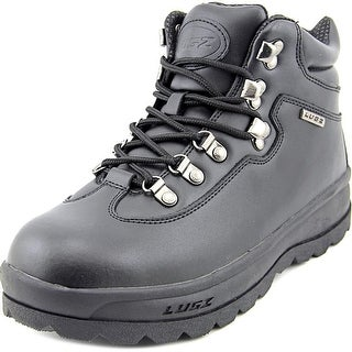 Lugz Boulder Slip Resistant Men Round Toe Leather Black Work Boot