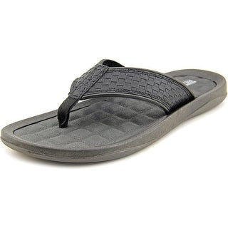 Kenneth Cole Reaction Go Four-th Men Open Toe Synthetic Black Thong Sandal