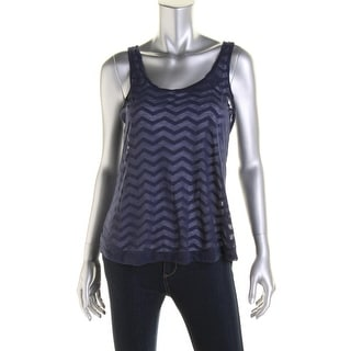 Jenni by Jennifer Moore Womens Juniors Stretch Sheer Tank Top