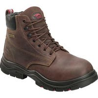 "Avenger Men's A7219 6"" Hoss Composite Toe EH Waterproof Boot Brown Full Grain Crazy Horse Leather"