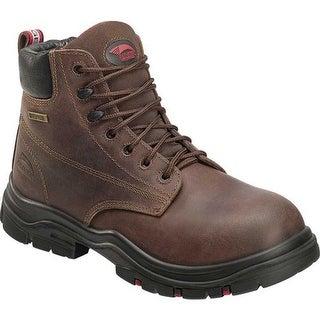 "Avenger Men's A7219 6"" Hoss Composite Toe EH Waterproof Boot Brown Full Grain Crazy Horse Leather"