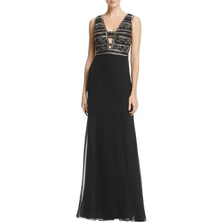 Adrianna Papell Womens Evening Dress Beaded Full-Length