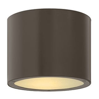 Hinkley Lighting 1663 1 Light Outdoor Dark Sky Flush Mount Ceiling Fixture from the Luna Collection