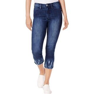 Buffalo David Bitton Womens Cropped Jeans Denim Raw Hem