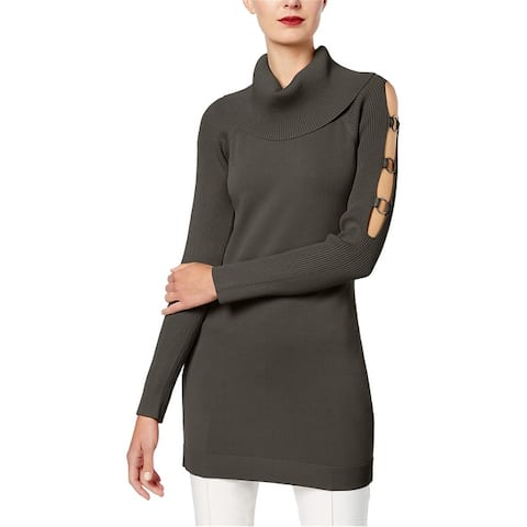 I-N-C Womens Cut Out Tunic Sweater