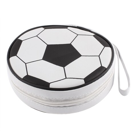 Football Design Zipper Closure 24pcs Disc CD VCD Storage Holder Bag Case