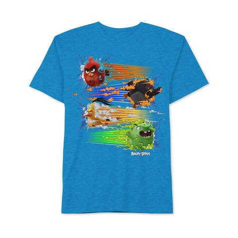Angry Birds Boys 4 Burst Graphic T-Shirt - XL (20)