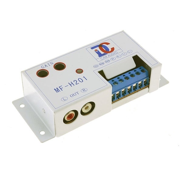 Unique Bargains Speaker Tweeter to RCA Audio Filter Adaptor Amplifier Converter for Car Auto