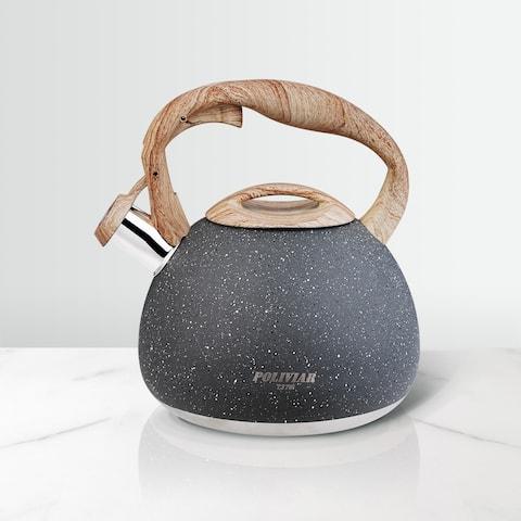 Poliviar Tea Kettle 2.7 Quart Stainless Steel Kettle