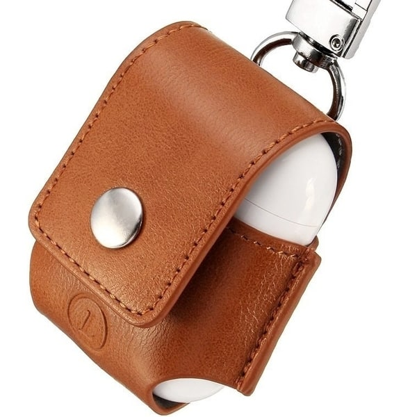 best loved 63110 bc1e6 Shop AirPods Anti-lost Leather Protective Cover for Apple AirPods ...
