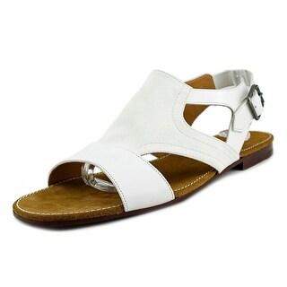 Dries Van Noten Lesley Men Open-Toe Leather White Slingback Sandal
