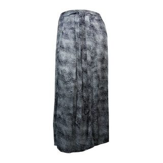 Style & Co. Women's Belted Printed Maxi Skirt - L
