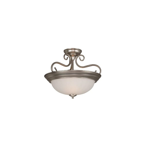 Craftmade X124 2 Light Semi-Flush Ceiling Fixture