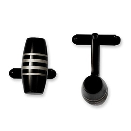 Chisel Stainless Steel Black IP Cuff Links
