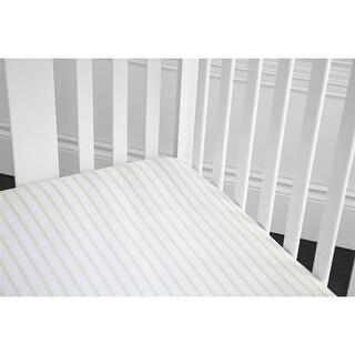 Baby Gund Deluxe Crib Sheet - Grey