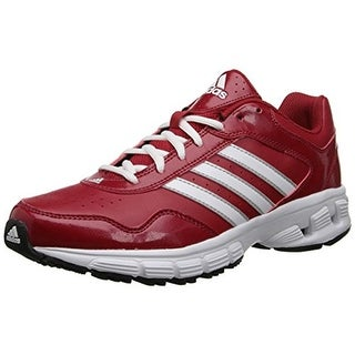 Adidas Mens Falcon Trainer 3 Faux Leather Lace Up Baseball Shoes - 8.5 medium (d)