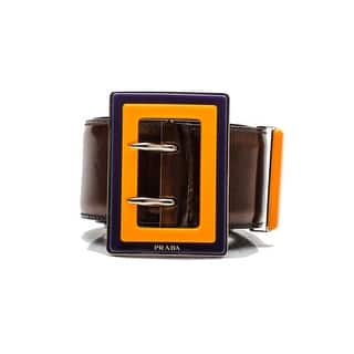 Prada Women's Double Prong Logo Patent Leather Belt Brown|https://ak1.ostkcdn.com/images/products/is/images/direct/dbd11851c4e448b6bb5773f69fc2813d3ace4f64/Prada-Women%27s-Double-Prong-Logo-Patent-Leather-Belt-Brown.jpg?impolicy=medium