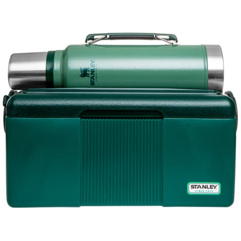 Stanley Gift Set with Heritage Cooler and Classic Vacuum Bottle - Green - One Size